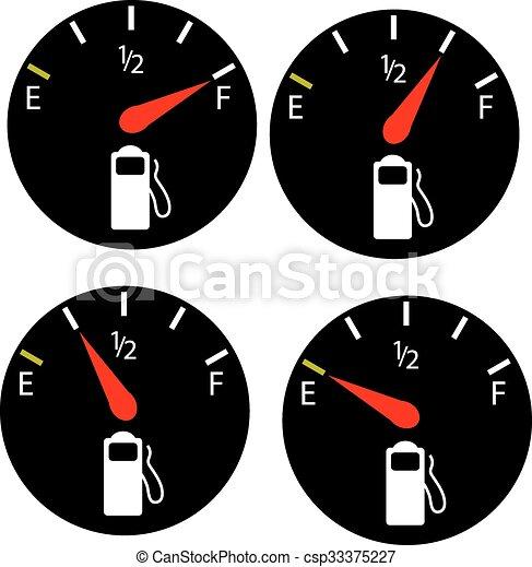 petrol meter, fuel gauge - csp33375227