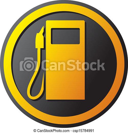 petrol station icon - csp15784991
