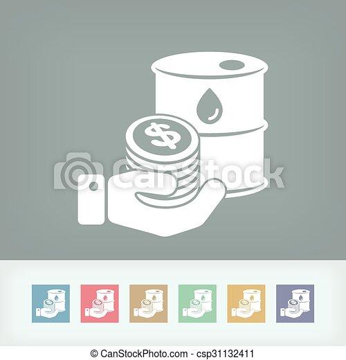 Petroleum price icon - csp31132411