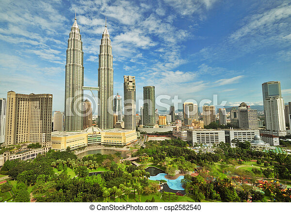 Petronas Twin Towers in Malaysia - csp2582540