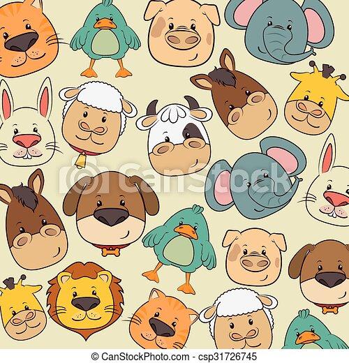 Pets and animals cartoons - csp31726745