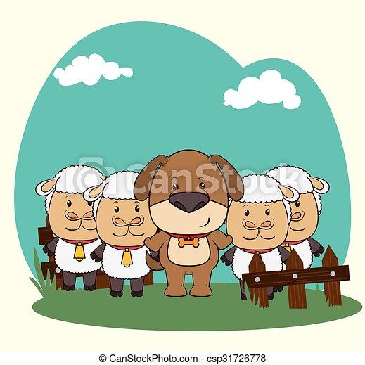 Pets and animals cartoons - csp31726778