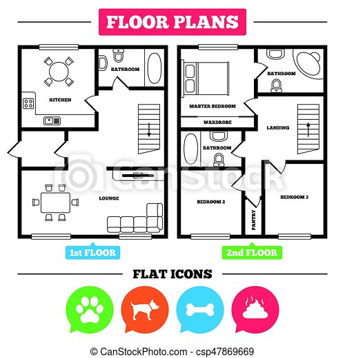 architecture plan with furniture house floor plan pets clip art rh canstockphoto com