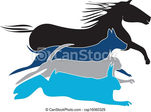 Pets logo vector - csp16060329