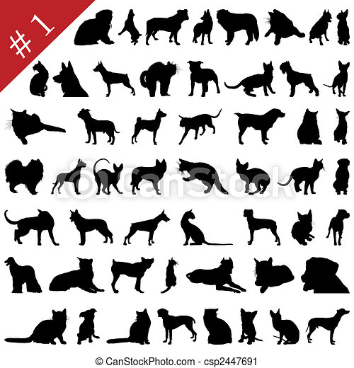 pets silhouettes # 1 - csp2447691