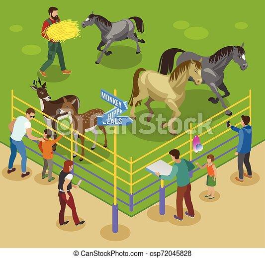 Petting Farm Composition - csp72045828