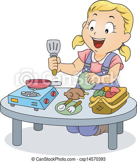 peu cuisine jouets girl jouer gosse peu illustration jouets girl gosse jouer cuisine. Black Bedroom Furniture Sets. Home Design Ideas