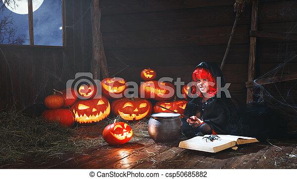 Peu Cuisine Sortilege Halloween Potion Sorciere Enfant Livre Citrouille