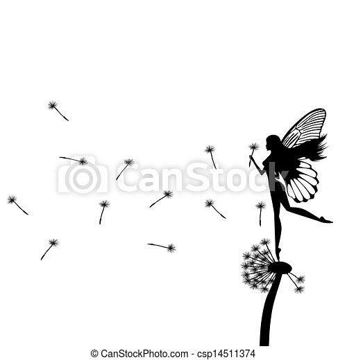 Peu danse f e pissenlit - Dessin fleur pissenlit ...