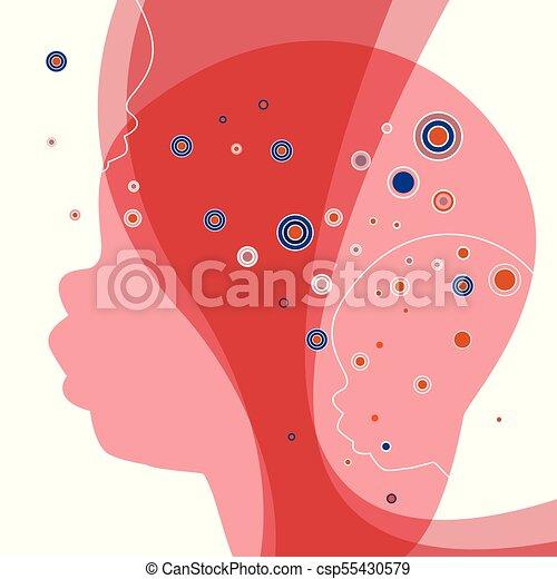 peu, fantasme, concept., silhouette., enfant, bébé, rêve - csp55430579