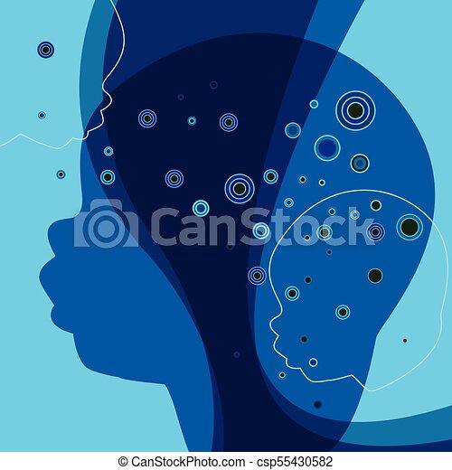 peu, fantasme, concept., silhouette., enfant, bébé, rêve - csp55430582