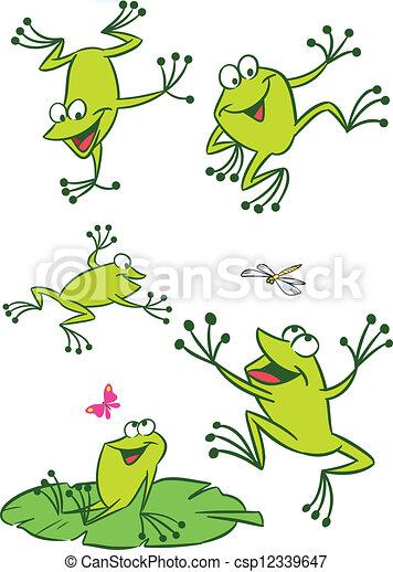 peu, grenouilles - csp12339647