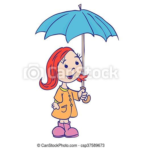 Peu Parapluie Girl
