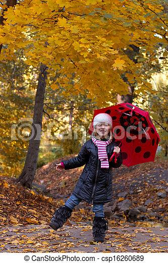 peu, parapluie, girl - csp16260689