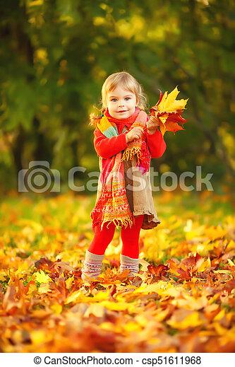 peu, parc, girl, heureux - csp51611968