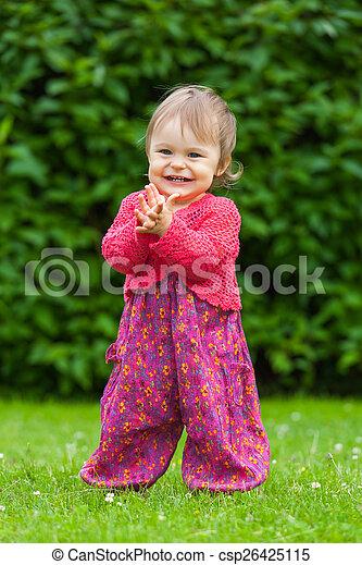 peu, parc, girl - csp26425115