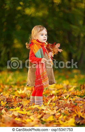 peu, parc, girl - csp15341753