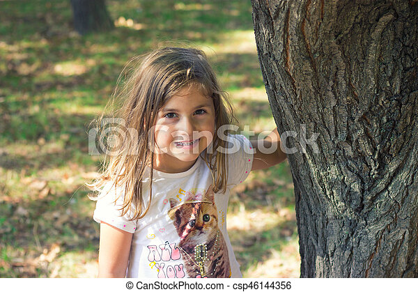 peu, parc, girl - csp46144356