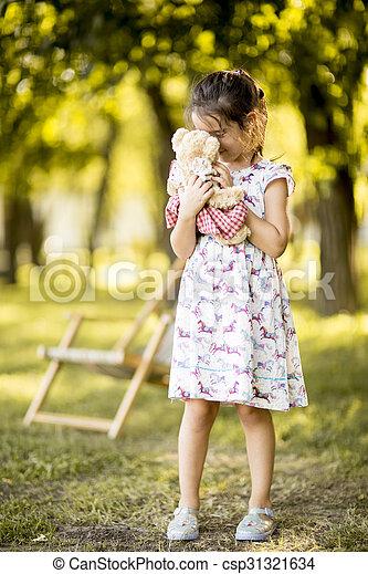 peu, parc, girl - csp31321634