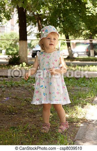 peu, robe, panama, girl - csp8039510