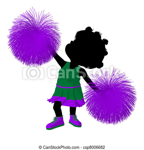 peu, silhouette, américain, illustration, acclamation, africaine - csp8006682