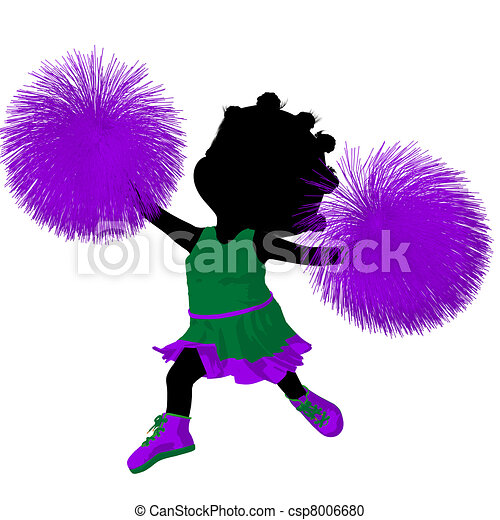 peu, silhouette, américain, illustration, acclamation, africaine - csp8006680
