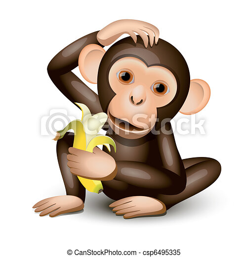 peu, singe - csp6495335