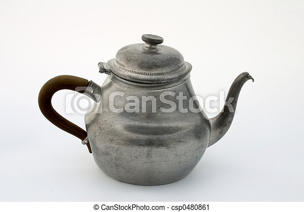Pewter teapot - csp0480861