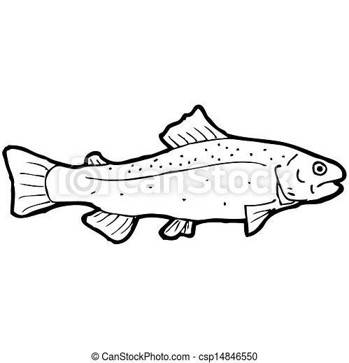 Pez Blanco Negro Dibujo Caricatura