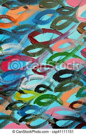 Pez colorido - csp41111151