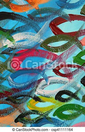 Pez colorido - csp41111164