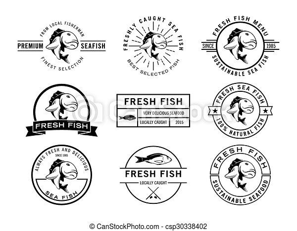 Colección de placas de pescado - csp30338402