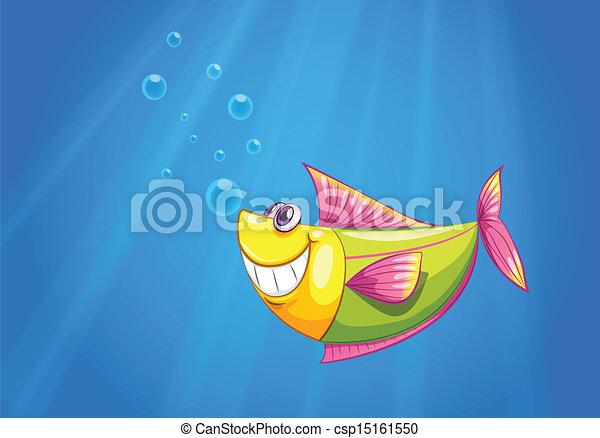 Un pez en el mar - csp15161550