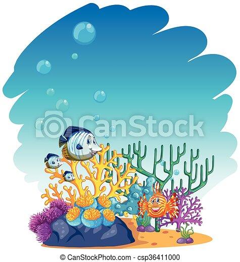Peces nadando en el mar - csp36411000