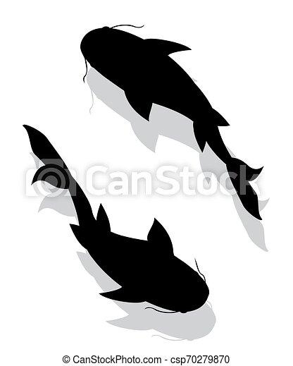 Siluetas de pescado - csp70279870