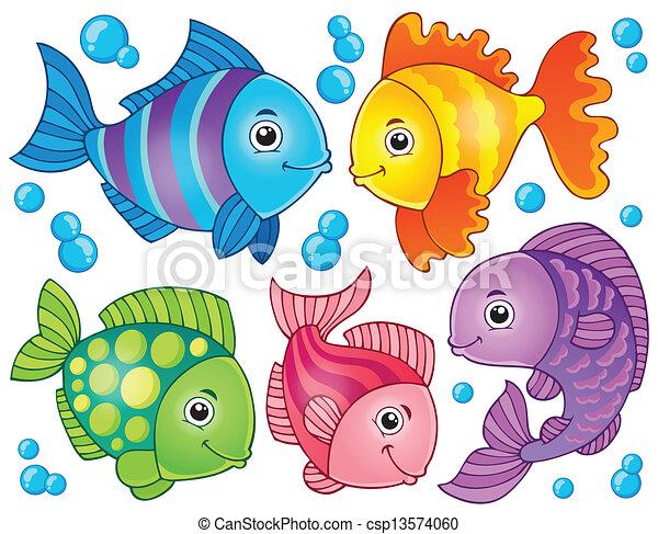 Tema de pescado 4 - csp13574060
