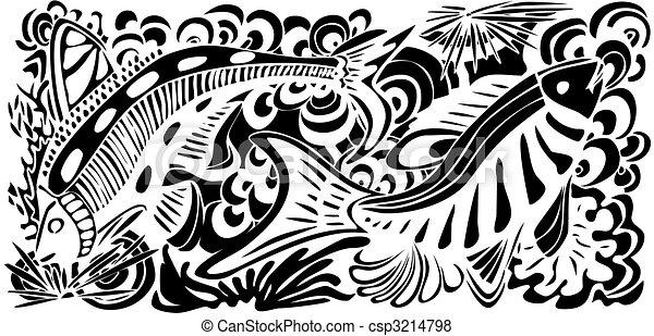 textura de pescado - csp3214798