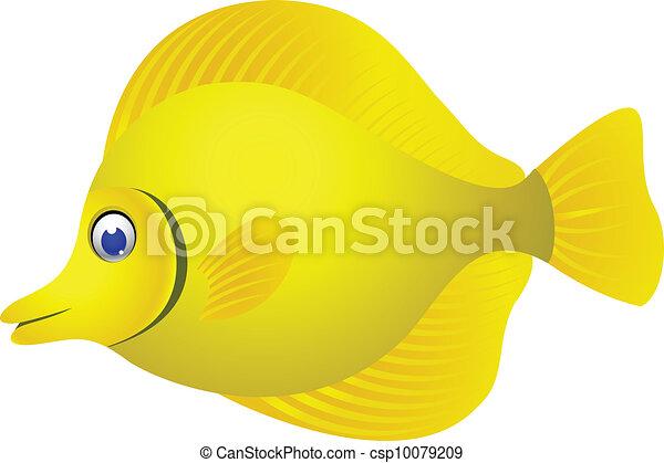 pez tropical, caricatura - csp10079209