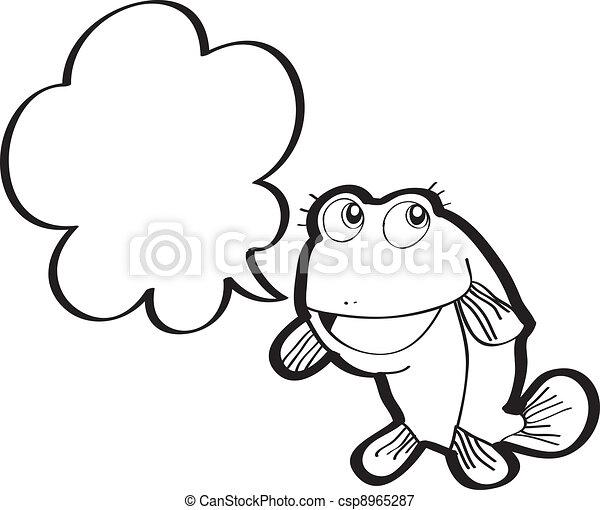 pez, vector, caricatura - csp8965287