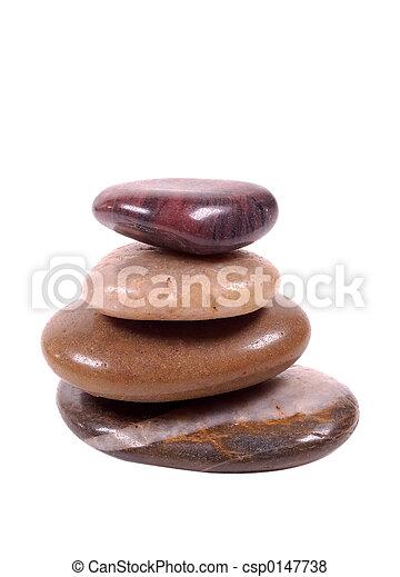 Steine streifen den Weg - csp0147738
