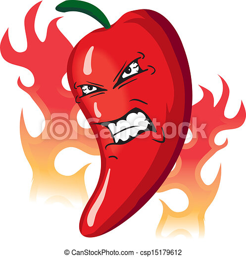 Angry hot Pepper - csp15179612