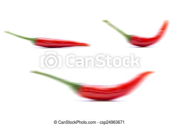 Chili Bilder pfeffer rotes chili form verschwimmen pfeffer form bild