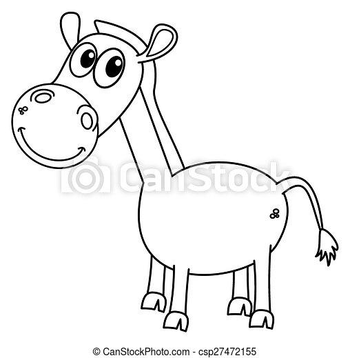Pferd, färbung Clipart Vektor - Suche Illustration, Zeichnungen und ...