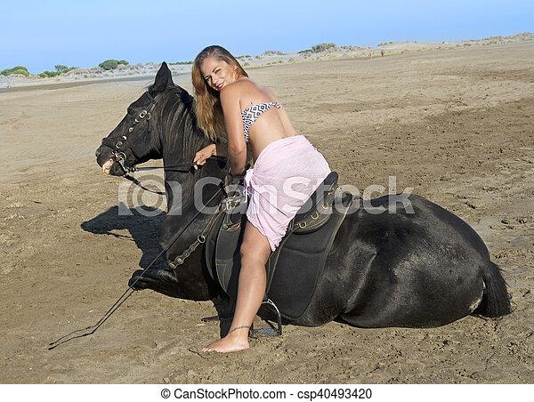 Pferd frau auf Video: Frau