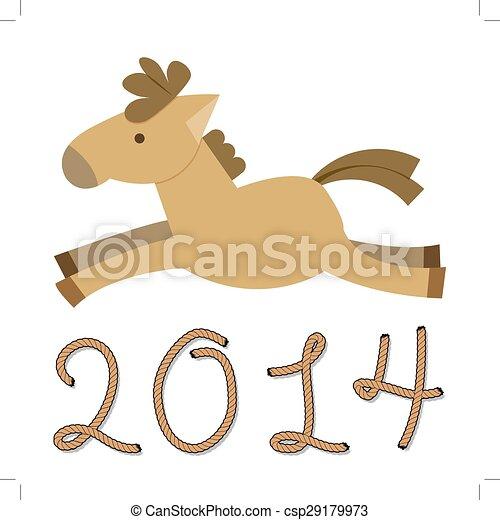 pferd, jahr - csp29179973