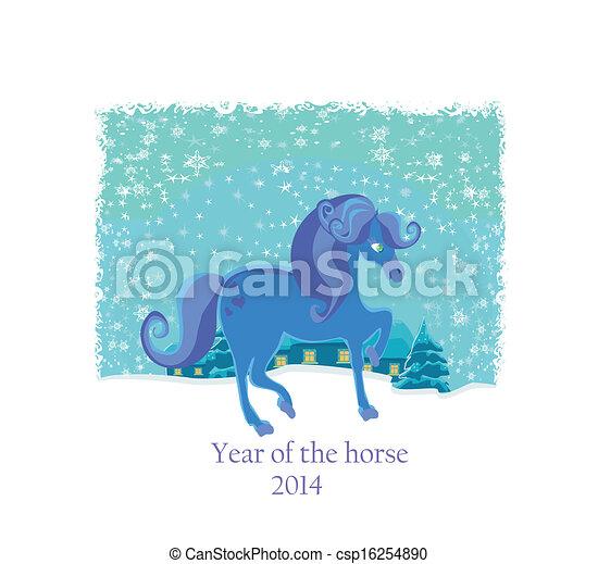 pferd, jahr - csp16254890