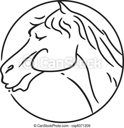 pferd, jahr - csp8371209