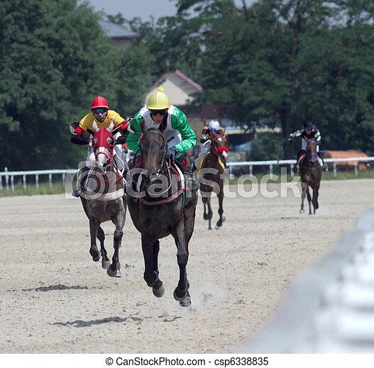 pferd, racing. - csp6338835