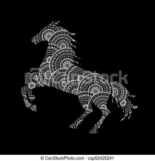 mandala muster pferd