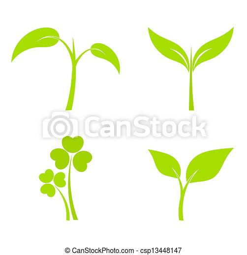 Pflanzensymbole - csp13448147